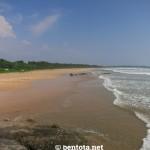 Bentota Beach von Norden aus